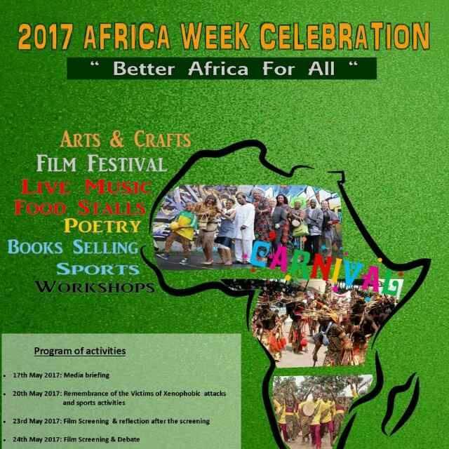 "2017 Africa week Celebration : ""BETTER AFRICA FOR ALL """